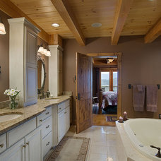 Traditional Bathroom by Woodhouse Post & Beam Homes