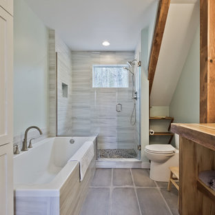 Bathroom - contemporary bathroom idea in Portland Maine