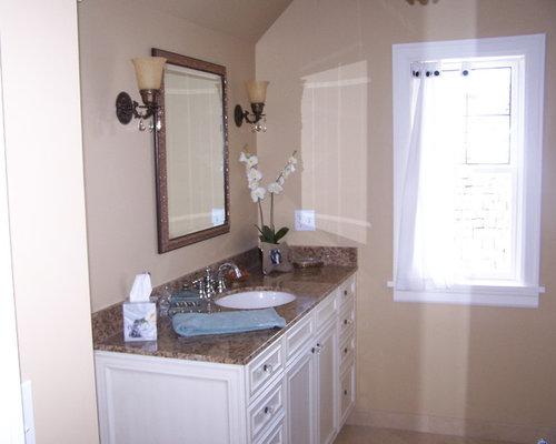 Stucco bathroom design ideas renovations photos with a for 2 piece bathroom ideas