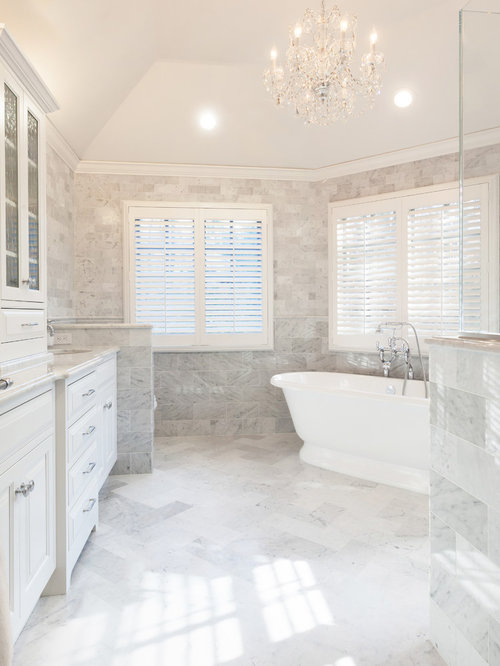 White Master Bathroom Houzz
