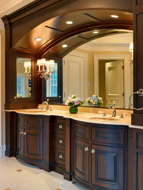 Bathroom sink cabinets home design ideas pictures for Traditional master bathroom ideas