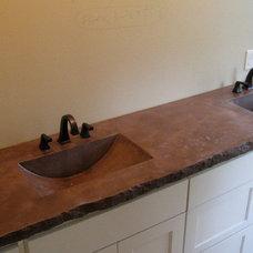 Contemporary Bathroom by Custom Concrete Designs