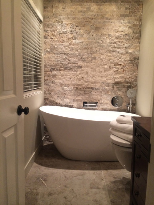 Tiny ensuite houzz Ensuite tile ideas pictures