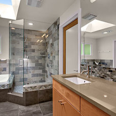 Modern Bathroom by Logan's Hammer Building & Renovation
