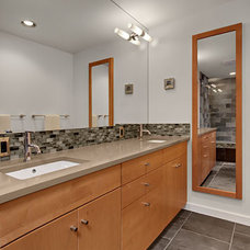 Modern Bathroom by Logan's Hammer Building & Renovation