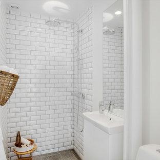 Inspiration for a scandinavian bathroom in Copenhagen.
