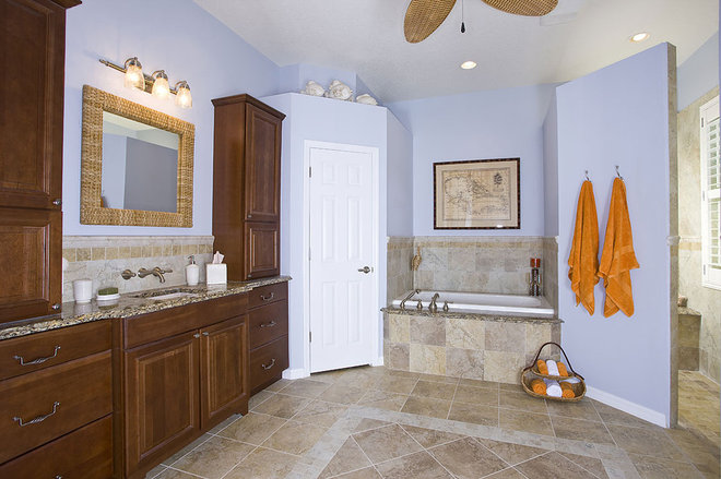 Traditional Bathroom by Jamie Gold, CKD, CAPS