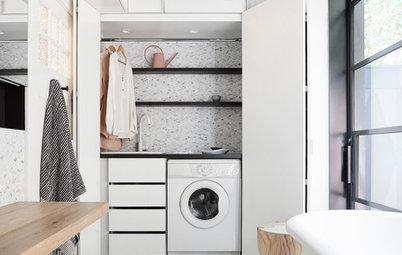 Sådan skjuler du vaskemaskinen – 17 elegante eksempler