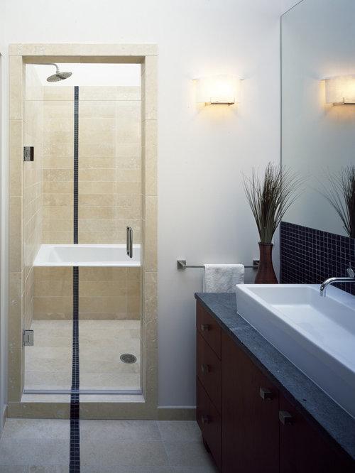 Lovely Inspiration For A Modern Mosaic Tile Bathroom Remodel In San Francisco