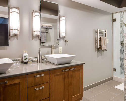 Bathroom Design Ideas Renovations Photos With Shaker Cabinets And A Wa