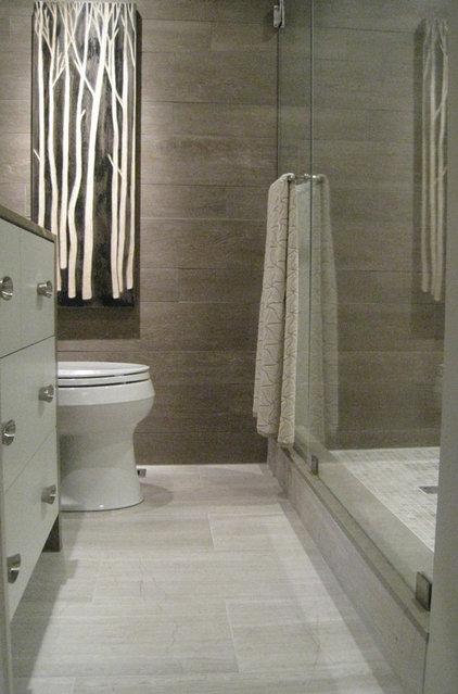 Modern Bathroom by Lisa Ferguson Interior Design