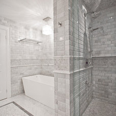 Transitional Bathroom by M-Squared Contracting Inc.