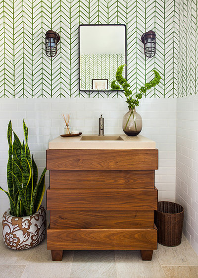 Good Transitional Bathroom by Beth Kooby Design