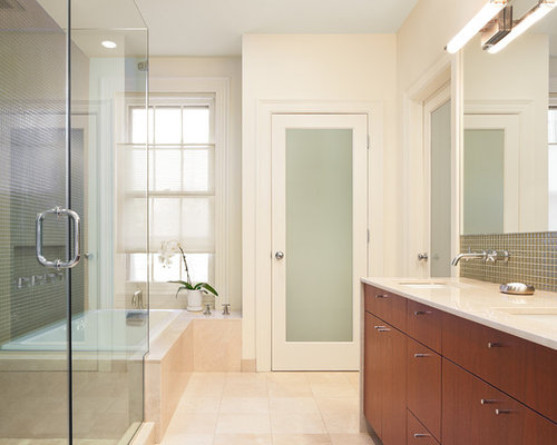 Bathroom design ideas renovations photos with a double for Townhouse bathroom ideas