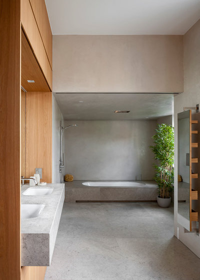 Contemporary Bathroom by Viewport Studio