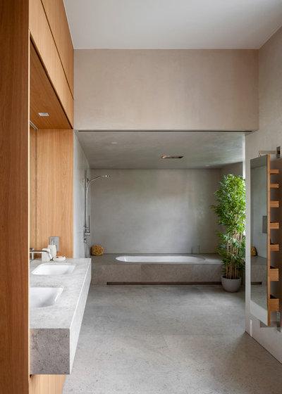 Contemporaneo Stanza da Bagno by Viewport Studio