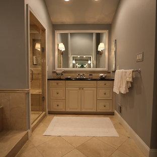 most popular traditional beige tile bathroom remodeling