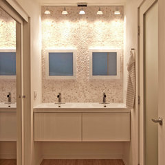 contemporary bathroom by Jon+Aud Design