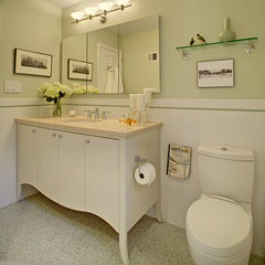 eclectic bathroom by Tracey Stephens Interior Design Inc