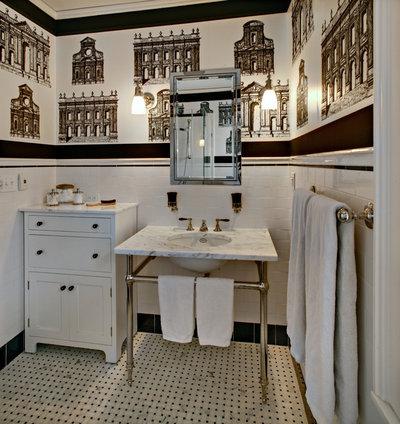 Elegant Traditional Bathroom by Tracey Stephens Interior Design Inc