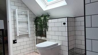 Tradeabase Bathroom, Matt Black Flush