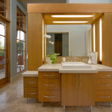 Contemporary Bathroom by Charles Clayton Construction Inc