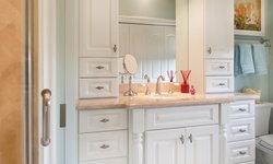 Traditional Bath with Elegant Vanity