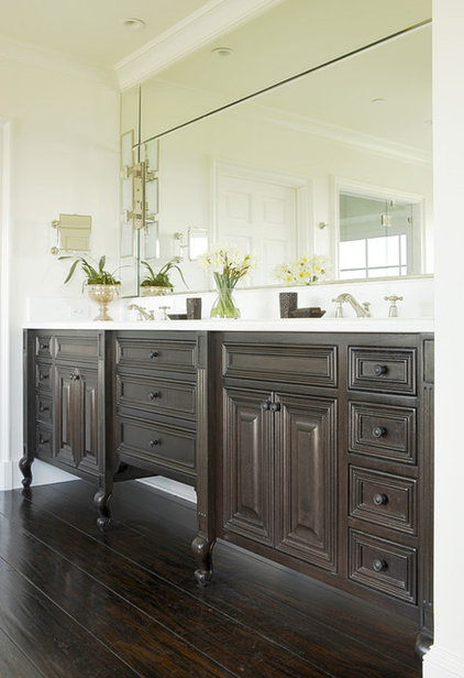 A furniture look for your bathroom vanity for Looking for bathroom vanities