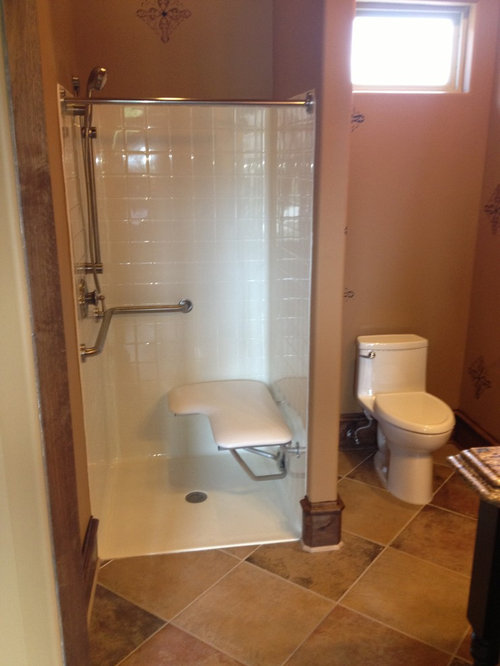 Handicapped accessible shower houzz for Handicapped bathroom design