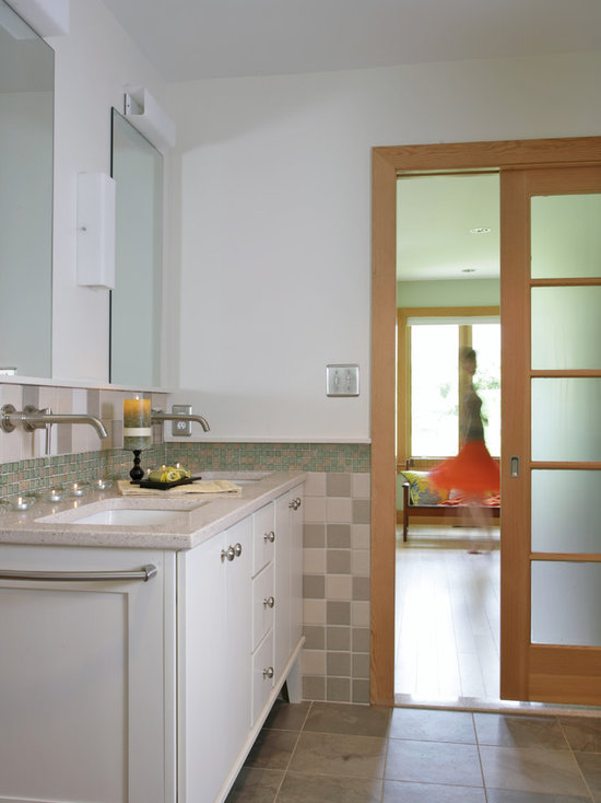 Frosted Glass Pocket Doors frosted glass pocket door | houzz