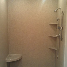 traditional showers by Marble Works, Inc