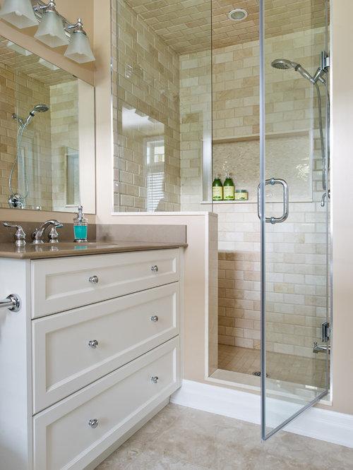 traditional bathroom design ideas remodels photos with beige tile. Black Bedroom Furniture Sets. Home Design Ideas