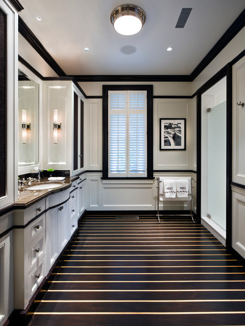 Traditional White And Black Bathroom Design Ideas, Pictures, Remodel ...
