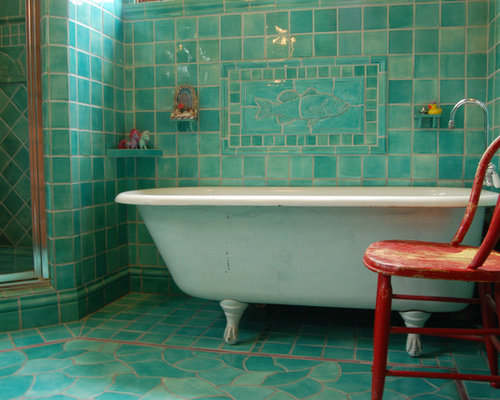 Inspiration For A Timeless Bathroom Remodel In Other With A Claw Foot Tub,  Mosaic
