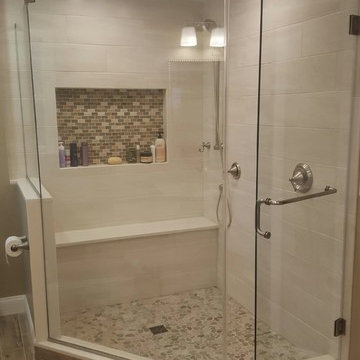 Traditional Bathroom- Frameless Shower Doors
