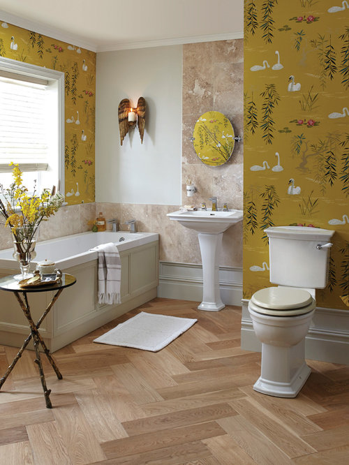 Bathroom Decor With Yellow Walls : Bathroom design ideas renovations photos with yellow walls