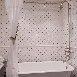 Bathroom - traditional multicolored tile bathroom idea in San Francisco