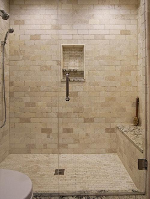 Mid sized chicago bathroom design ideas remodels photos for Mid size bathroom ideas