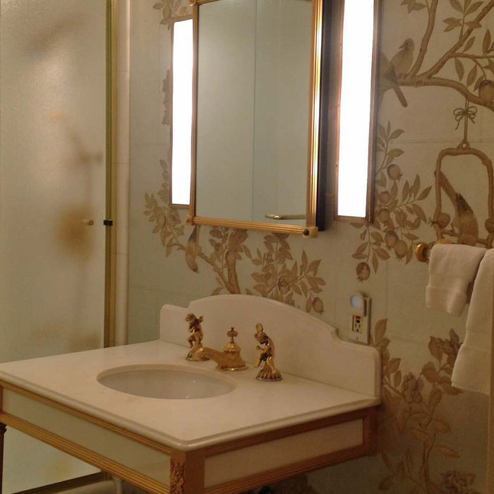Traditional Bathroom in Gold