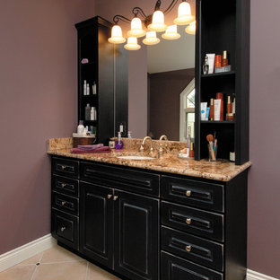 75 Beautiful Brown Tile Bathroom With Purple Walls Pictures Ideas September 2020 Houzz