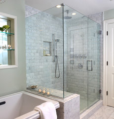 traditional bathroom by Justine Sterling Design