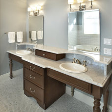 Traditional Bathroom by Kristin Petro Interiors, Inc.