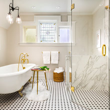 Room of the Day: Bathroom Mixes Period Details and Modern Style