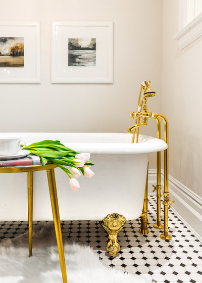 Perfect Traditional Bathroom by Leanne McKeachie Design