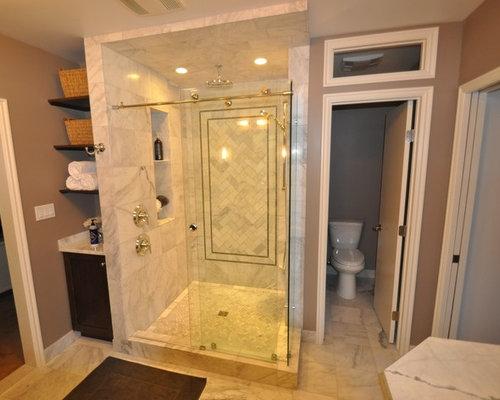 Brown Marble Bathroom Floor : Shower bathroom design ideas pictures remodel decor