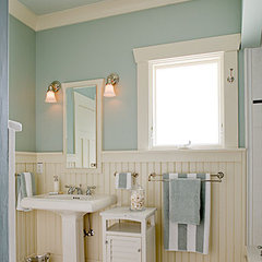 traditional bathroom by Gaspar's Construction
