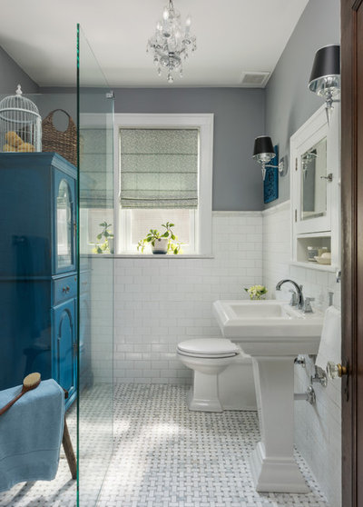 Perfect Traditional Bathroom by Joni Spear Interior Design