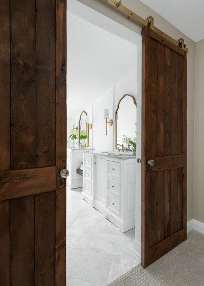 American Traditional Bathroom by Sarah Coe Design LLC
