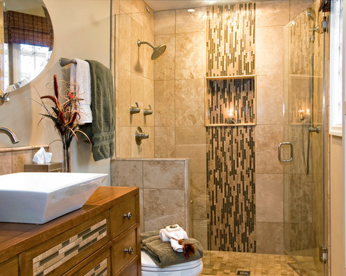 24 Mosaic Bathroom Ideas Designs: Vertical Accent Tile Home Design Ideas, Pictures, Remodel