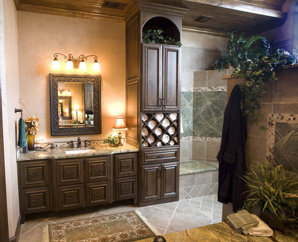 Traditional Bathroom by Texas Wood Mill Cabinets Inc